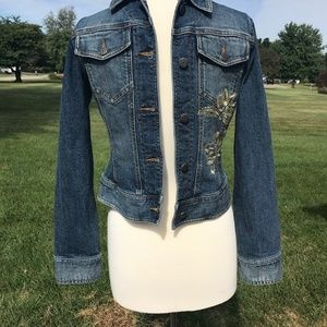 The Limited Embroidered Jean Jacket